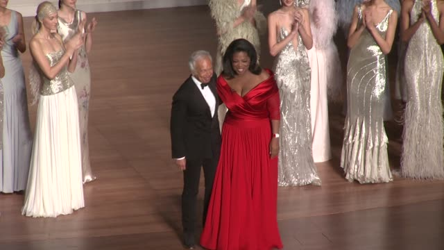 ralph lauren and oprah winfrey at the lincoln center presents an evening with ralph lauren hosted by oprah winfrey at new york ny - oprah winfrey stock videos & royalty-free footage