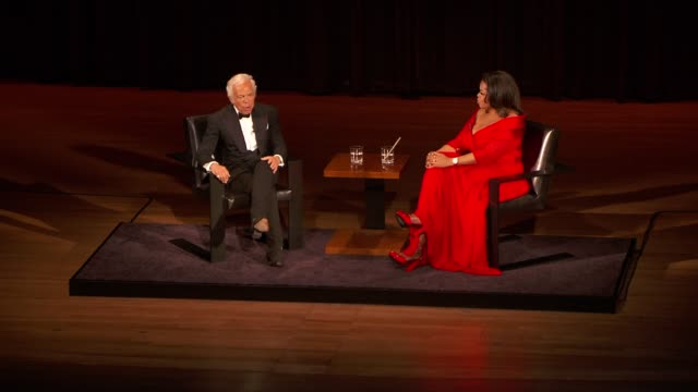ralph lauren on starting his breast cancer center at the lincoln center presents an evening with ralph lauren hosted by oprah winfrey at new york ny - oprah winfrey stock videos & royalty-free footage