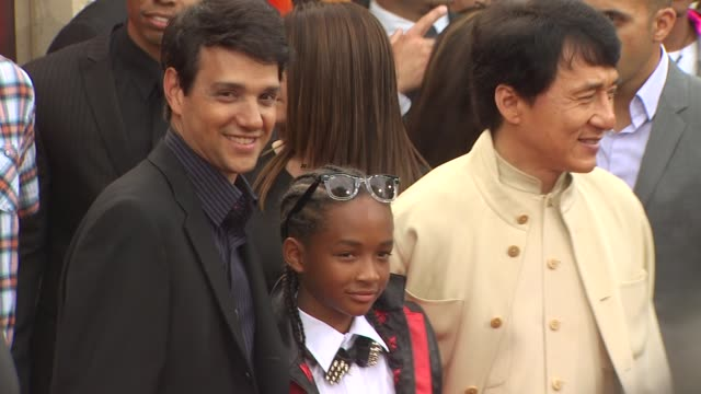 Ralph Macchio Jaden Smith Jackie Chan at the 'The Karate Kid' Premiere at Westwood CA