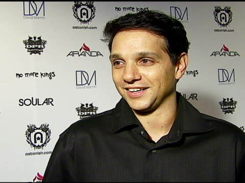 Ralph Macchio on the event being in the video the first record he ever bought and on voting at the Astonish Entertainment Los Angeles Launch Party at...