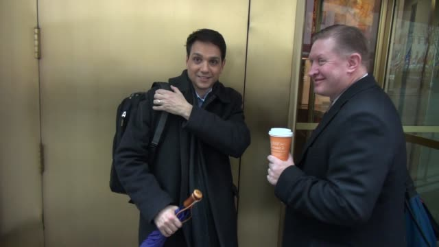 Ralph Macchio signs for and poses for photos with fans outside of the TODAY show in Celebrity Sightings in New York