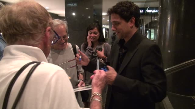 Ralph Macchio with fans at NBC Studios in New York NY on 07/16/12