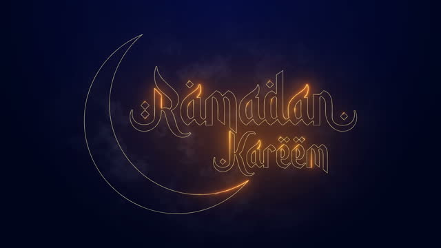 ramadan kareem greetings outline calligraphy - text stock videos & royalty-free footage
