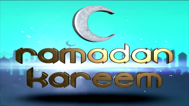 ramadan kareem islamic holy month eid greeting - eid mubarak stock videos & royalty-free footage