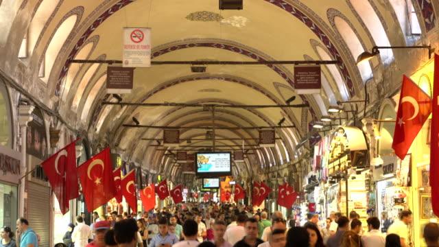 イスタンブールのグランドバザールでラマダンショッピング。タイムラプス - お土産点の映像素材/bロール