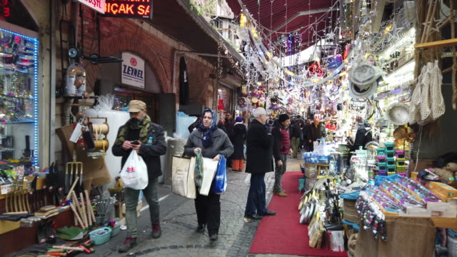 ramadan shopping time lapse in istanbul - grand bazaar istanbul stock videos & royalty-free footage