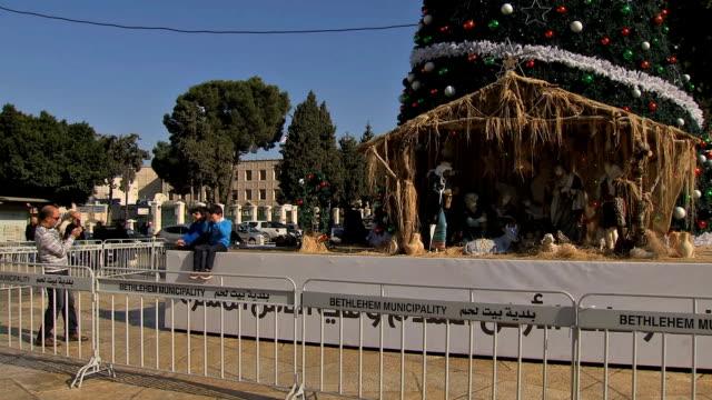 ramallah christmas celebration - ramallah stock videos and b-roll footage