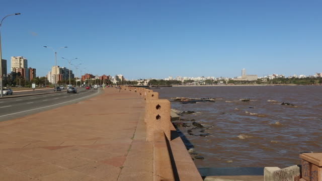 rambla of montevideo - montevideo stock videos and b-roll footage