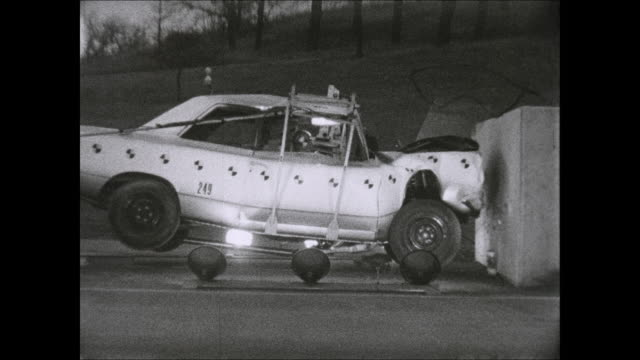 1969 amc rambler front end crash test footage - crash test stock videos & royalty-free footage