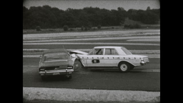 1969 amc rambler side impact crash test - crash test stock videos & royalty-free footage