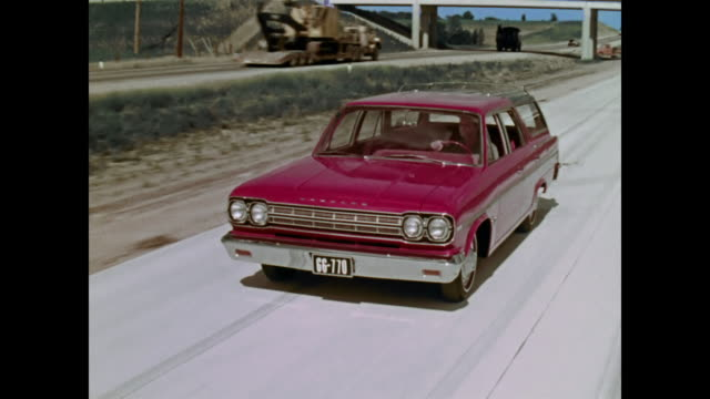 1966 amc rambler station wagon on construction site - 1966 stock videos and b-roll footage