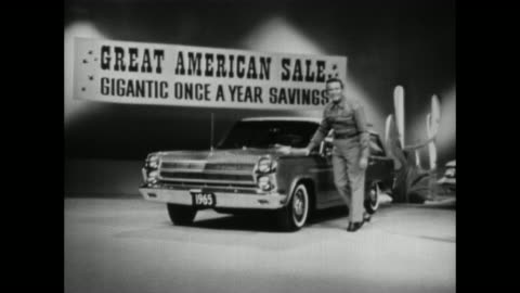 1965 amc rambler station wagon tv commercial - television advertisement stock videos & royalty-free footage