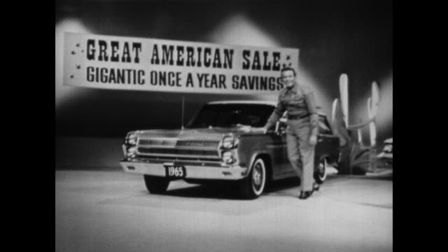 stockvideo's en b-roll-footage met 1965 amc rambler station wagon tv commercial - 1965
