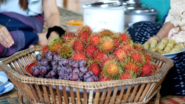 rambutan and grape