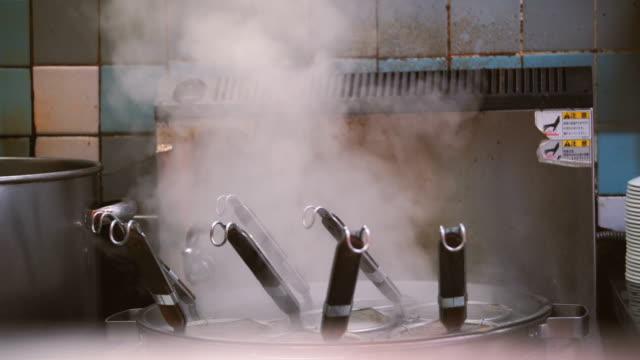ramen boiled pot - ramen noodles stock videos & royalty-free footage