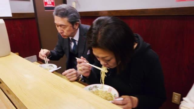 ramen shop in tokyo japan - noodles stock videos & royalty-free footage