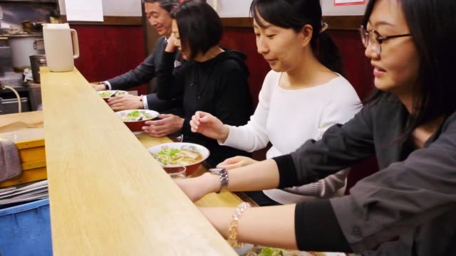 ramen shop in tokyo japan - ramen noodles stock videos & royalty-free footage