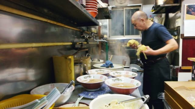 ramen shop in tokyo japan - food and drink establishment stock videos & royalty-free footage