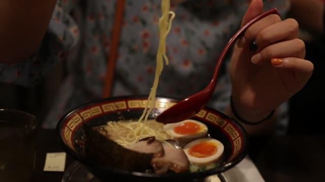 ramen - soba stock videos & royalty-free footage