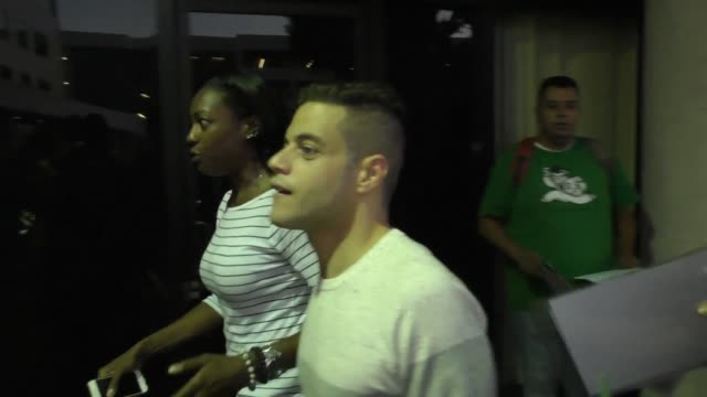 Rami Malek and Portia Doubleday get mobbed by fans at the Mr Robot Screening in Celebrity Sightings in Los Angeles