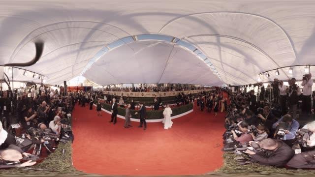 rami malek ashton kutcher natalie portman at the 23rd annual screen actors guild awards _ arrivals 360 - monoscopic image stock videos & royalty-free footage