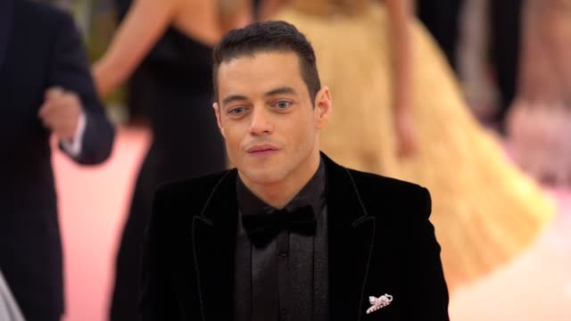 Rami Malek at The 2019 Met Gala Celebrating Camp Notes on Fashion Arrivals at Metropolitan Museum of Art on May 06 2019 in New York City