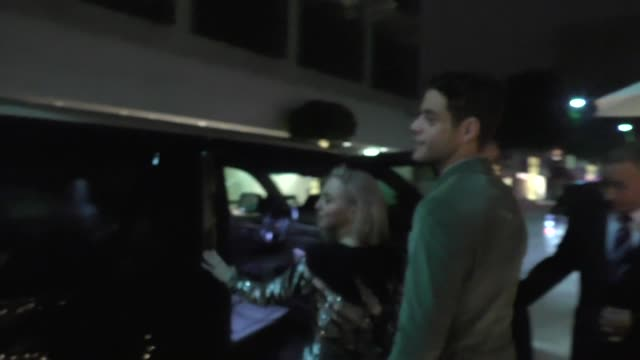 Rami Malek Portia Doubleday outside Mr Chows Restaurant in Beverly Hills in Celebrity Sightings in Los Angeles