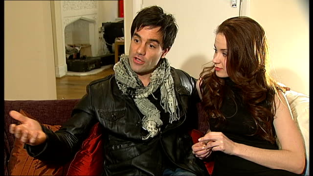 ramin karimloo interview sot crowds leaving adelphi theatre vox pops - adelphi theatre stock videos & royalty-free footage