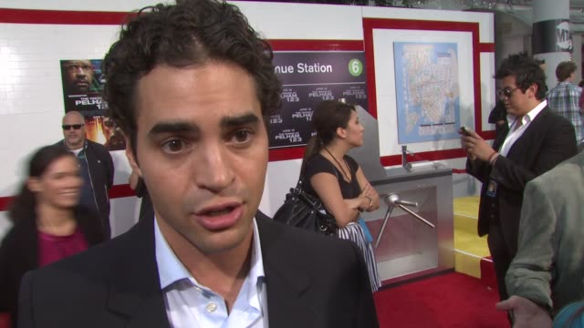 ramon rodriguez on his character the film at the 'the taking of pelham 1 2 3' premiere at westwood los angeles ca - pelham 1 2 3: ostaggi in metropolitana video stock e b–roll