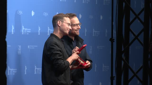 "ramon zuercher and silvan zuercher, winners of the ""encounters"" best director award for their movie ""das maedchen und die spinne"" poses with their... - celeb stock videos & royalty-free footage"