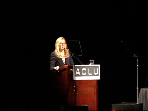 ramona ripston executive director of the aclu southern california on attacks on freedom and on lessons from the past at the aclu bill of rights... - executive director stock videos & royalty-free footage