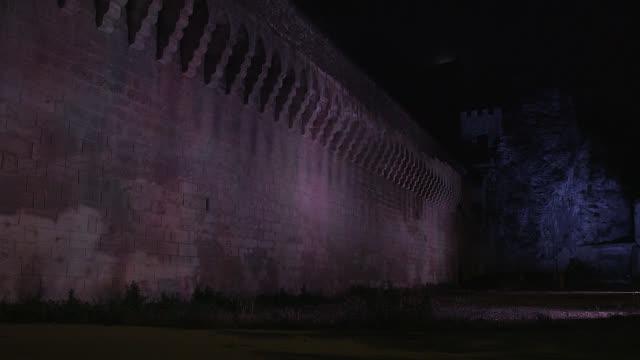 rampart of Avignon, the night