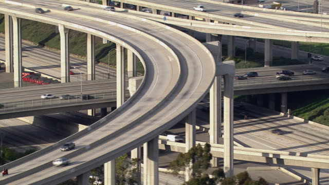 Ramps and underpasses in a Los Angeles interchange.