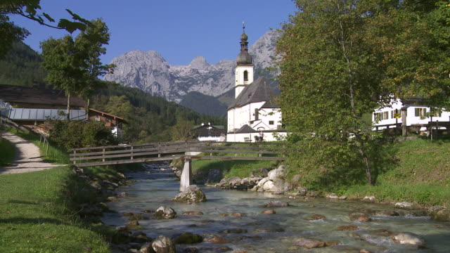 Ramsau Mountain Village In The Bavarian Alps
