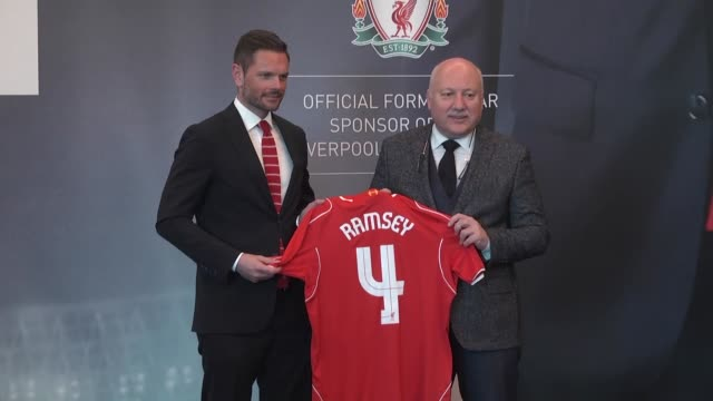 Ramsey's Executive Board Chairman Huseyin Dogan and Jonathan Kane Director of International Business Development at Liverpool Football Club attend...