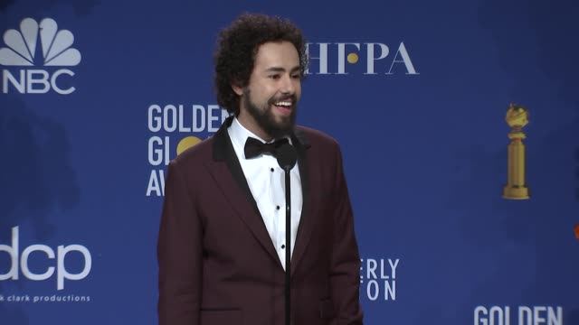 ramy youssef - at the 77th annual golden globe awards - press room at the beverly hilton hotel on january 05, 2020 in beverly hills, california. - golden globe awards stock videos & royalty-free footage