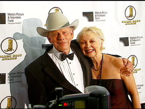 rance howard and wife judy at the the motion picture and television fund's 24th golden boot awards at the beverly hilton in beverly hills california... - motion picture & television fund stock videos & royalty-free footage