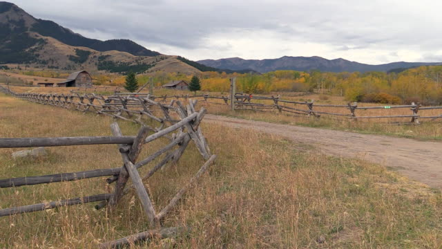 ranch landscape near gardiner montana and yellowstone national park, wyoming - ranch stock videos & royalty-free footage