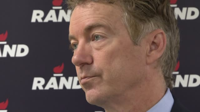 rand paul a critic of emergency coronavirus spending becomes the first us senator to test positive for covid19 according to the republican lawmaker's... - senator stock videos & royalty-free footage