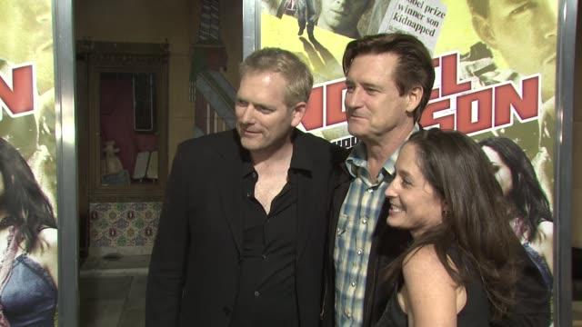 randall miller bill pullman and jody savin at the 'nobel son' premiere at los angeles ca. - bill pullman stock videos & royalty-free footage
