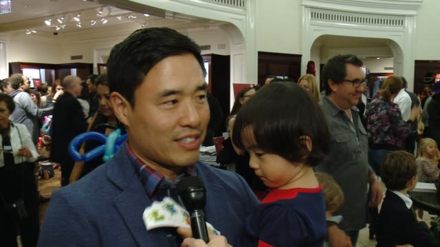 interview randall park on st jude's the brooks brothers event at brooks brothers celebrates the holidays with st jude children's research hospital... - st. jude children's research hospital stock videos and b-roll footage