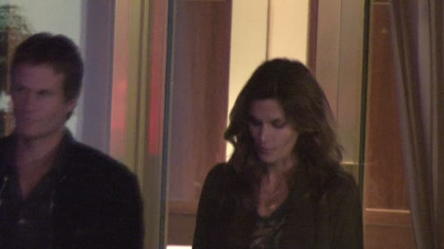 Rande Gerber and Cindy Crawford at Sunset Tower Hotel at the Celebrity Sightings in Los Angeles at Los Angeles CA