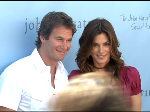 Rande Gerber and Cindy Crawford at the John Varvatos 6th Annual Stuart House Benefit on March 9 2008
