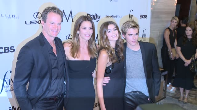 rande gerber, model cindy crawford, model kaia gerber, and model presley gerber at the daily front row's 4th annual fashion media awards at the park... - cindy crawford stock videos & royalty-free footage