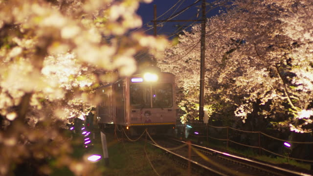 randen tram lines in the evening in kyoto - kyoto stock videos and b-roll footage