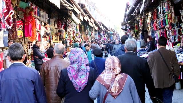 Random crowd in Beyazid bazaar in istanbul