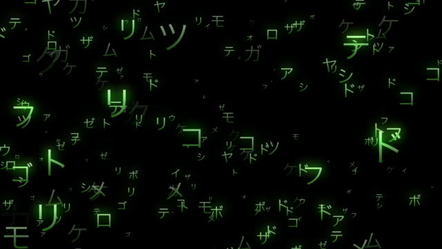 random japanese katakana characters - large group of objects stock videos & royalty-free footage