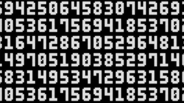 ランダムな番号 - 可能性点の映像素材/bロール
