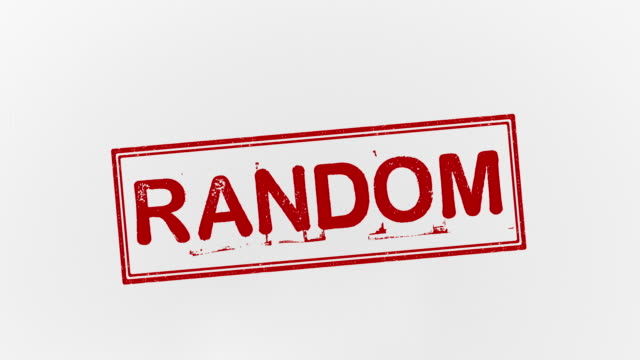 vídeos de stock e filmes b-roll de random - chance