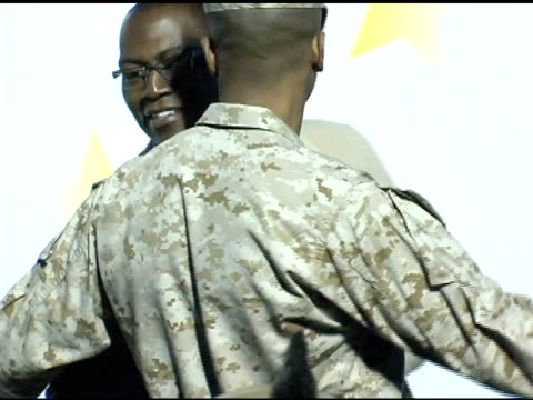 randy jackson at the rockin' the corp an american thank you celebration concert for us marines at camp pendelton marine base in oceanside california... - oceanside stock videos and b-roll footage